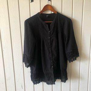Black Ellos blouse